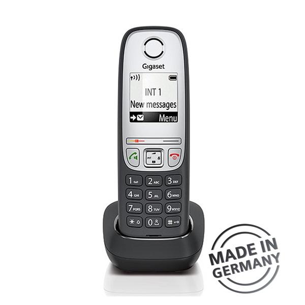 Gigaset A415 DUO hívóazonosítós kihangosítható fekete/ezüst dect telefon - 2
