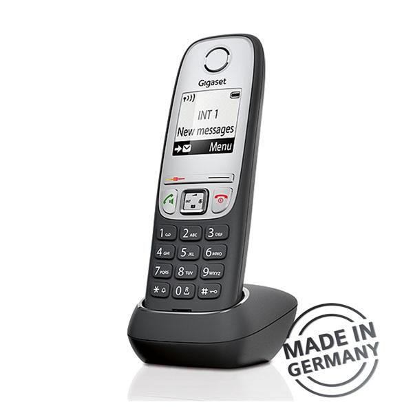 Gigaset A415 DUO hívóazonosítós kihangosítható fekete/ezüst dect telefon - 3