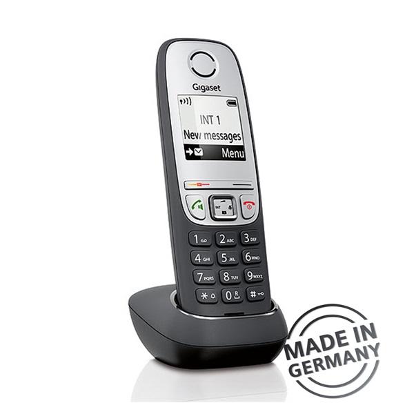 Gigaset A415 DUO hívóazonosítós kihangosítható fekete/ezüst dect telefon - 4