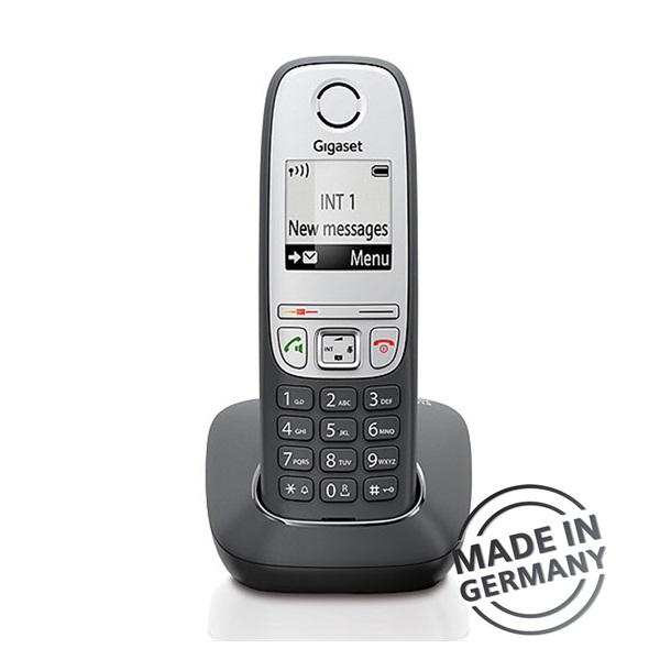 Gigaset A415 hívóazonosítós kihangosítható fekete/ezüst dect telefon - 1