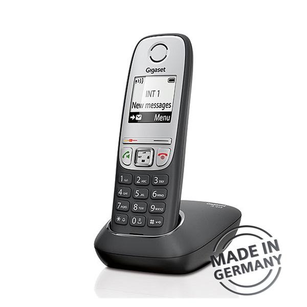Gigaset A415 hívóazonosítós kihangosítható fekete/ezüst dect telefon - 2