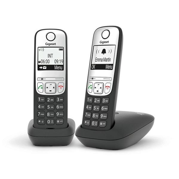 Gigaset A690 DUO fekete dect telefon - 1