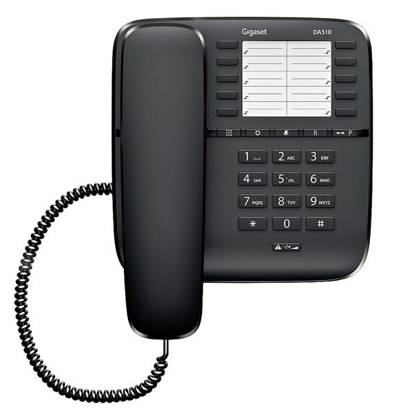 Gigaset DA510 fekete vezetékes telefon - 3