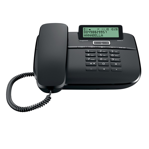 Gigaset DA611 fekete vezetékes telefon - 1