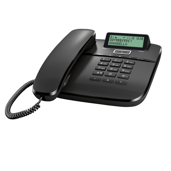 Gigaset DA611 fekete vezetékes telefon - 2
