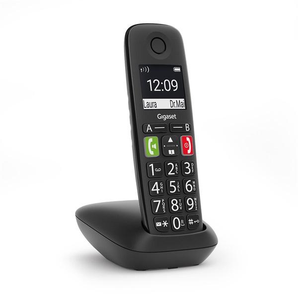 Gigaset E290 fekete dect telefon - 1