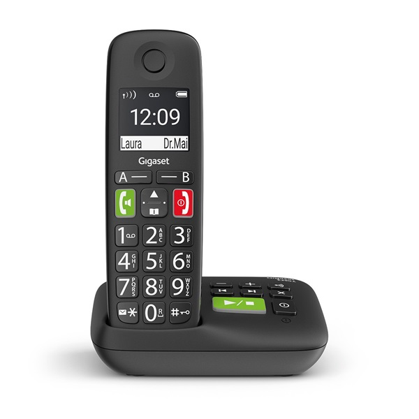 Gigaset E290A fekete üzenetrögzítős dect telefon - 1