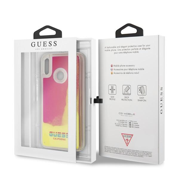 Guess California Huawei Psmart sötétben világító pink homok tok - 3