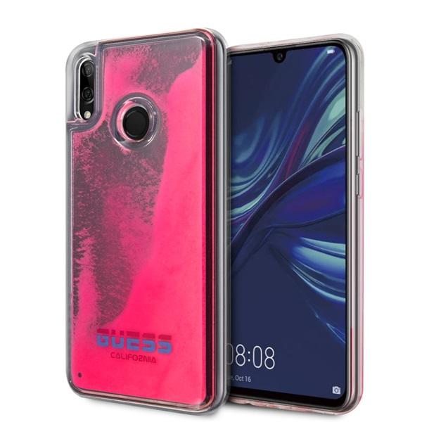 Guess Huawei Psmart sötétben világító átlátszó pink homok tok - 1