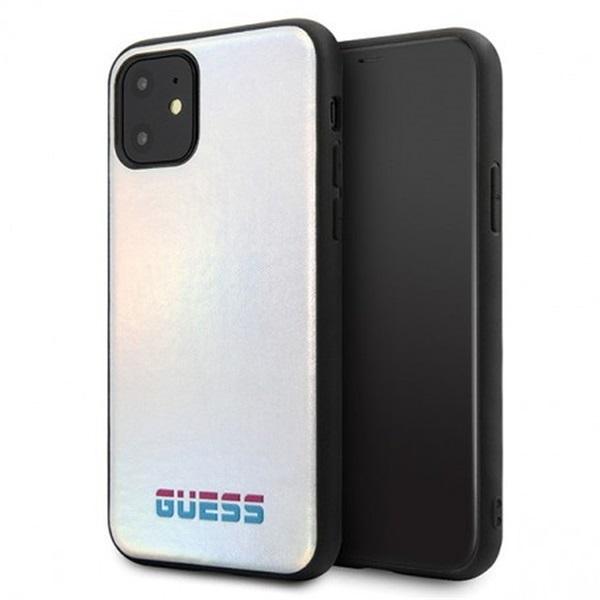 GUESS iPhone 11 Pro Max színváltó ezüst kemény tok - 1
