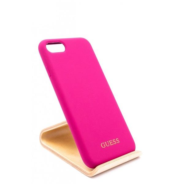 Guess iPhone 8 arany logóval szilikon pink tok - 1