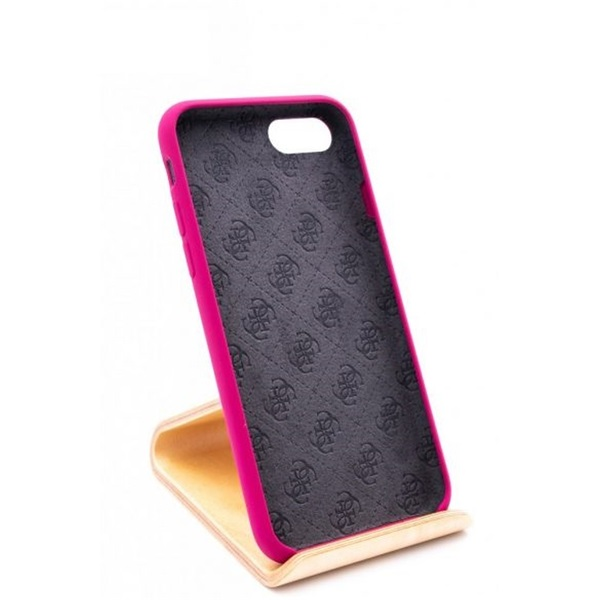 Guess iPhone 8 arany logóval szilikon pink tok - 3