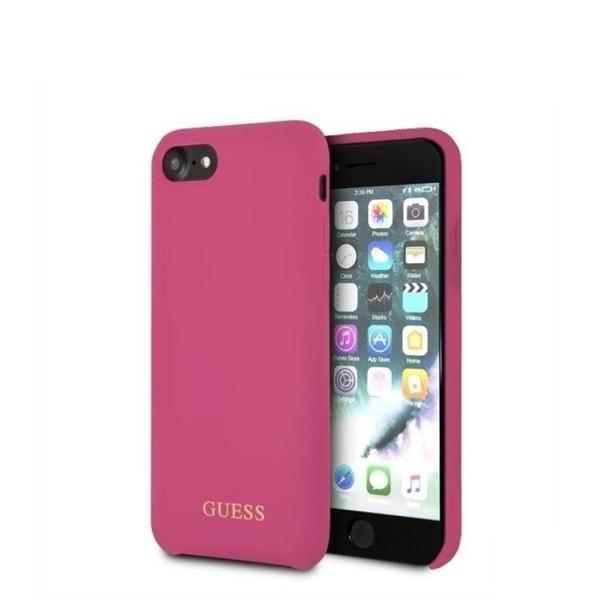 Guess iPhone 8 arany logóval szilikon pink tok - 4