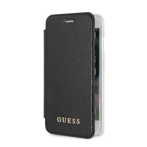 Guess iPhone 8 színváltó kihajtható műbőr fekete tok - 2