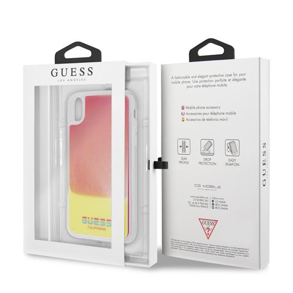 Guess iPhone X/XS sötétben világító rózsaszín homok tok - 3