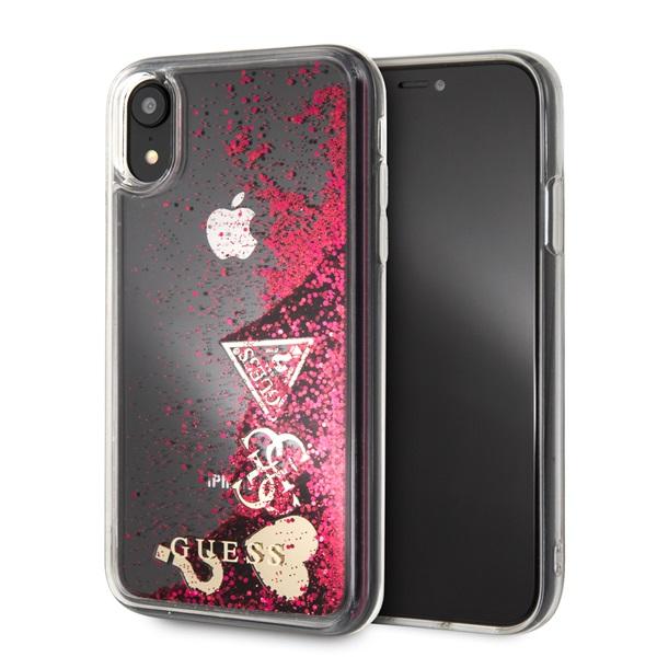 Guess iPhone XR csillám szívek tok - 2