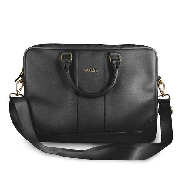 Guess Saffiano look 15 fekete notebook táska - 1