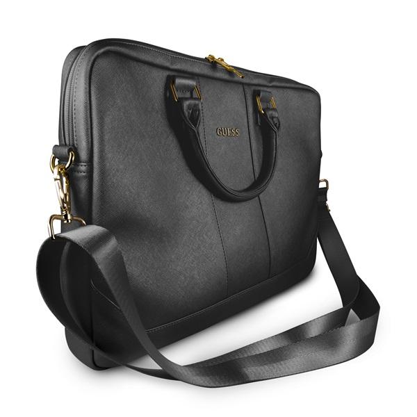 Guess Saffiano look 15 fekete notebook táska - 2