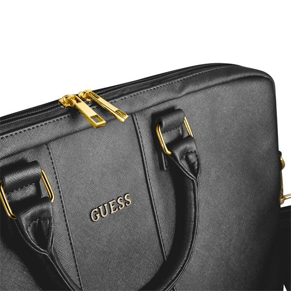 Guess Saffiano look 15 fekete notebook táska - 3