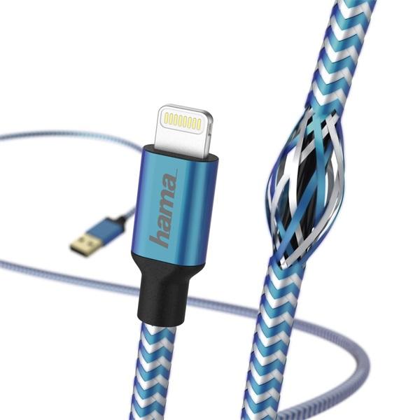 "Hama 178300 Reflective"" kék 1,5m Lightning adatkábel - 3"