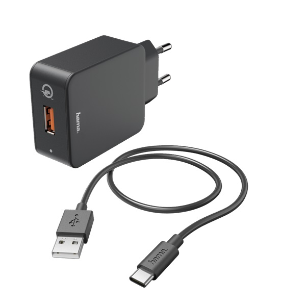 Hama 183230 Qualcomm QC 3.0 USB Type-C hálózati töltő - 1