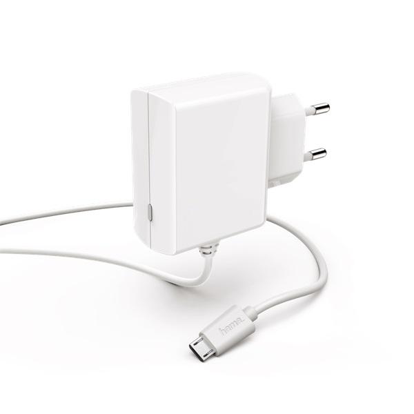 Hama 183254 micro USB 100-240V 1,2A fehér hálózati töltő - 1