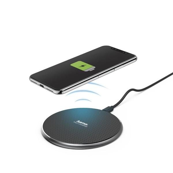 """Hama 188318 QI-FC10"""" 10W fekete vezeték nélküli mobiltelefon töltő - 1"""