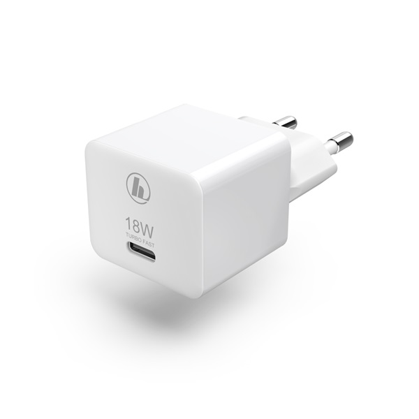 """Hama 188350 PD/QC"""" USB Type-C univerzális fehér hálózati töltő - 1"""