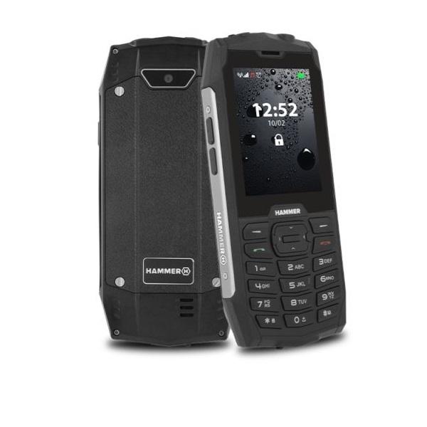 HAMMER 4 2,8 Dual SIM ezüst  csepp-, por- és ütésálló mobiltelefon - 1