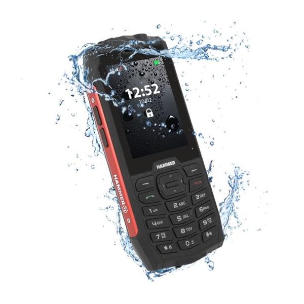 HAMMER 4 2,8 Dual SIM piros  csepp-, por- és ütésálló mobiltelefon - 3