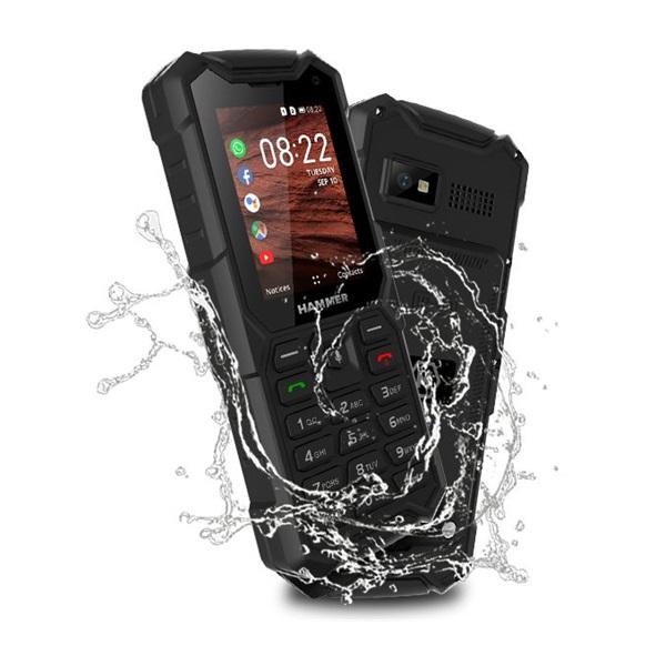 HAMMER 5 Smart 2,8 LTE Dual SIM fekete csepp-, por- és ütésálló mobiltelefon - 1