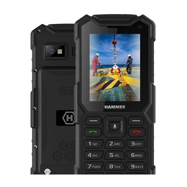 HAMMER 5 Smart 2,8 LTE Dual SIM fekete csepp-, por- és ütésálló mobiltelefon - 2