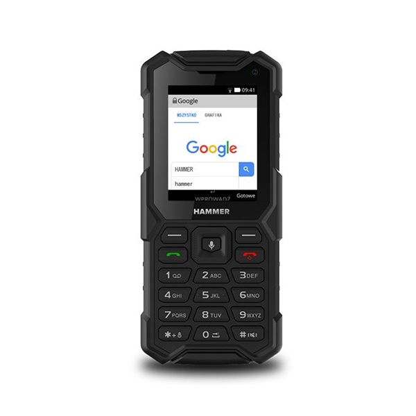 HAMMER 5 Smart 2,8 LTE Dual SIM fekete csepp-, por- és ütésálló mobiltelefon - 3