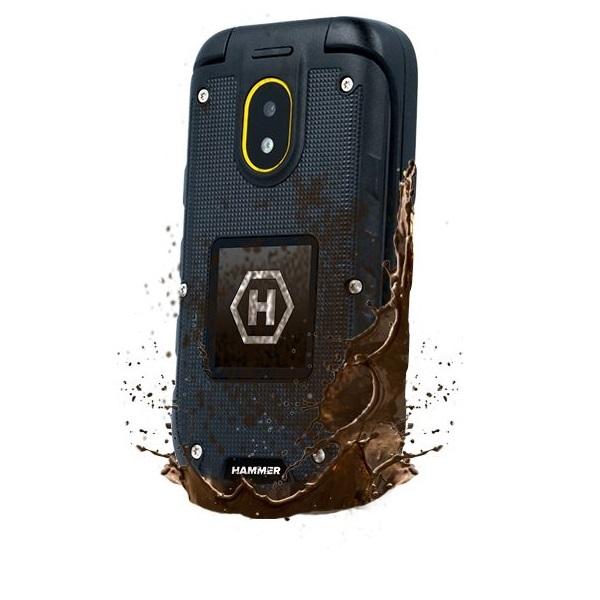 HAMMER Bow+ 2,4 3G Dual SIM csepp-, por- és ütésálló mobiltelefon - 3