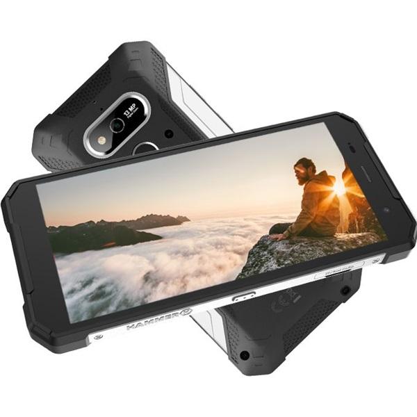 HAMMER Explorer 5,72 LTE 3/32GB Dual SIM fekete-ezüst csepp-, por- és ütésálló okostelefon - 3
