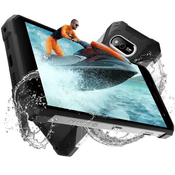 HAMMER Explorer 5,72 LTE 3/32GB Dual SIM fekete-ezüst csepp-, por- és ütésálló okostelefon - 4