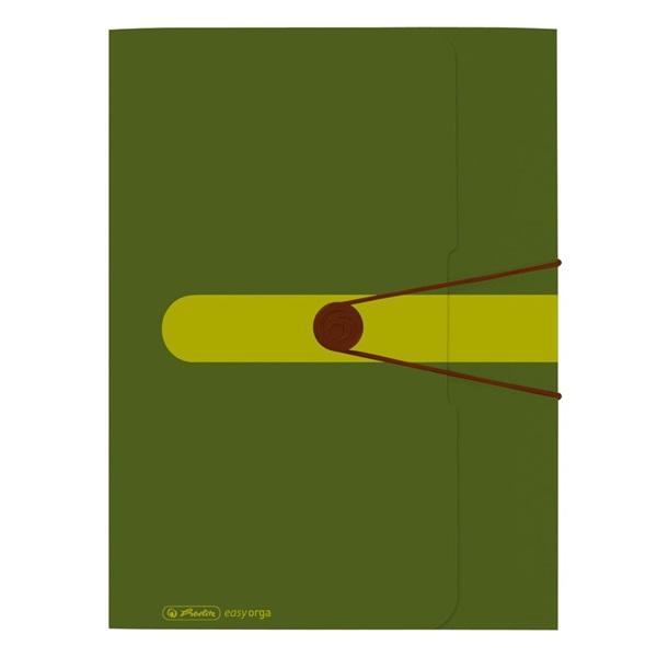 Herlitz Easy Orga A4 PP zöld gumis mappa - 1