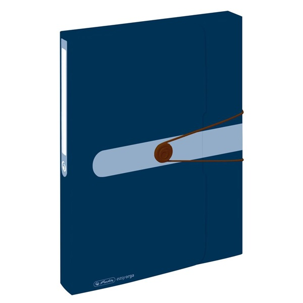 Herlitz Easy PP újrafelhasznált műanyag kék füzetbox - 1