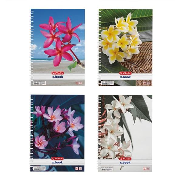 Herlitz Flower A4 70lapos kockás spirálfüzet - 1