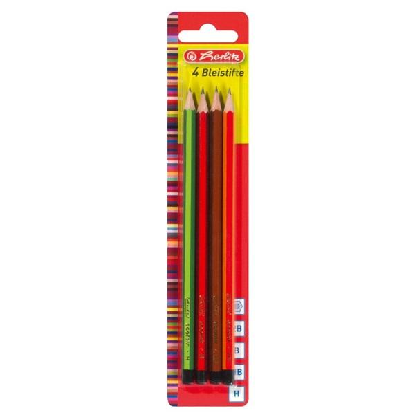 Herlitz H, HB, B, 2B 4db-os ceruza - 1
