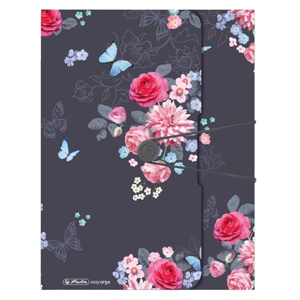 Herlitz Ladylike Flower Easy Orga To Go A4 PP füzetbox - 2