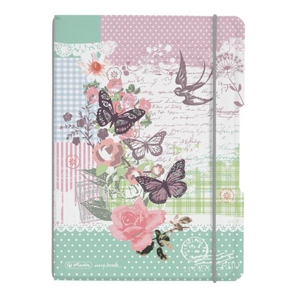 Herlitz my.book Ladylike Butterfly A5 40lapos kockás füzet - 1