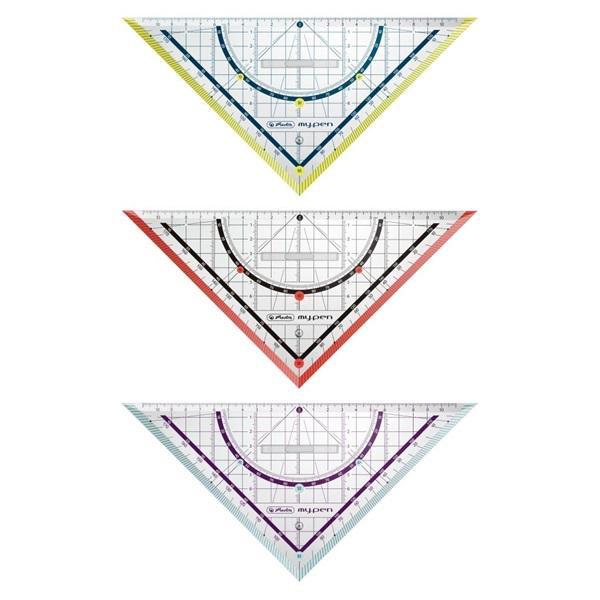 Herlitz my.pen 25cm-es színes háromszögvonalzó - 1