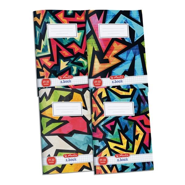 Herlitz Neon Art A5 kockás füzet - 1