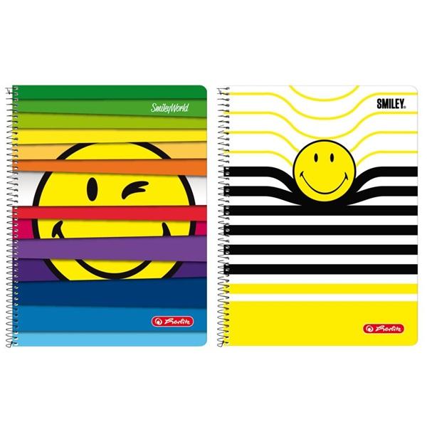 Herlitz Smiley A4 70lapos kockás spirálfüzet - 1