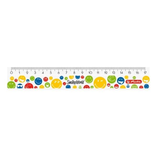 Herlitz Smiley Rainbow 17cm-es vonalzó - 1