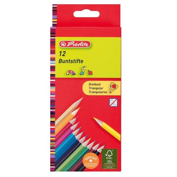 Herlitz Trio lakkozott 12db-os vegyes színű színes ceruza - 1
