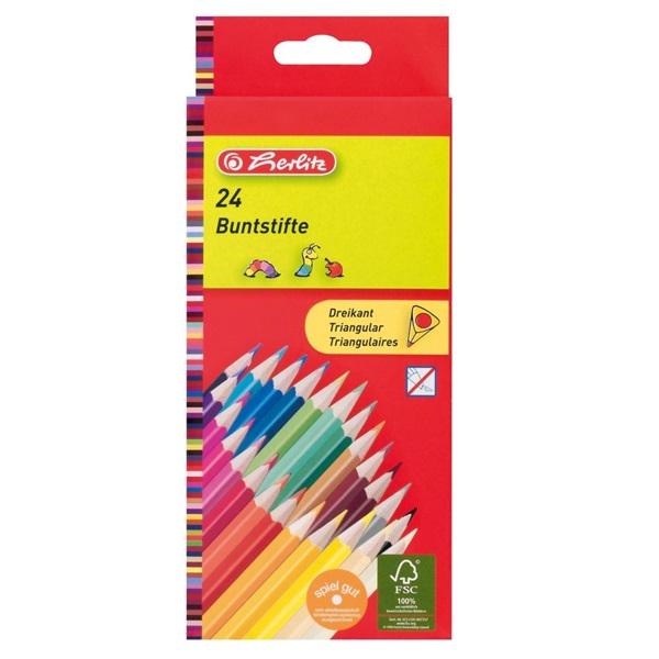 Herlitz Trio lakkozott 24db-os vegyes színű színes ceruza - 1
