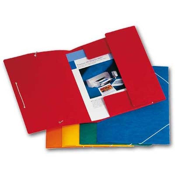 Hit A4 prespán pólyás 10db/cs kék gumis mappa - 1