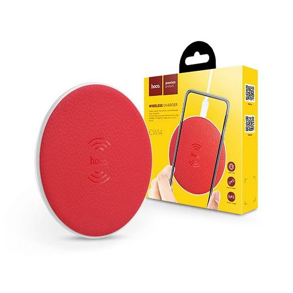 Hoco HOC0184 CW14 5W univerzális piros vezeték nélküli töltő - 1